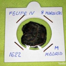 Monedas de España: FELIPE IV 8 MARAVEDÍS 1622 CECA M MADRID REFE; 2898. Lote 181149440