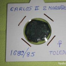 Monedas de España: CARLOS II 2 MARAVEDÍS 1680-85 TOLEDO REFE; 3011. Lote 181195302