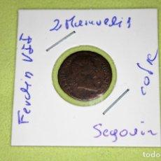 Monedas de España: FERNANDO VII 2 MARAVEDÍS SEGOVIA REFE; 3060. Lote 181198590