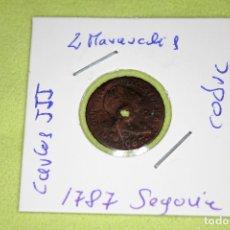 Monedas de España: FERNANDO VII 2 MARAVEDÍS SEGOVIA 1787 REFE; 3064. Lote 181198972