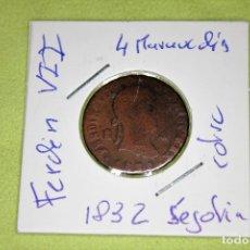 Monedas de España: FERNANDO VII 4 MARAVEDÍS SEGOVIA 1832 REFE; 3082. Lote 181202336