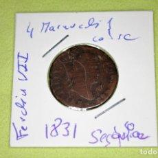 Monedas de España: FERNANDO VII 4 MARAVEDÍS SEGOVIA 1831 REFE; 3084. Lote 181202588