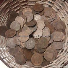 Monedas de España: LOTE 50 MONEDAS 5 & 10 CÉNTIMOS ALFONSO XIII & GOBIERNO PROVISIONAL 1870 COBRE. Lote 181398351