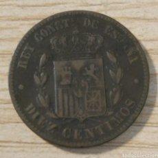 Monedas de España: 10 CÉNTIMOS ALFONSO XII 1879 BARCELONA OM. Lote 181493901