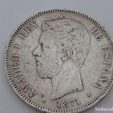 Monedas de España: MONEDA 5 PESETAS PLATA 1871 BUEN EJEMPLAR. Lote 181620601