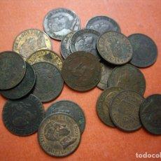 Monedas de España: LOTE: 20 MONEDAS DE 1 CENTIMO 1870 Y 1906. Lote 181662947