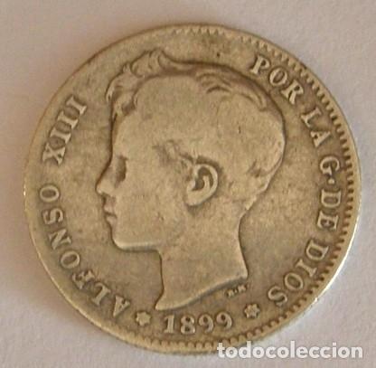ALFONSO XIII 1 PESETA 1899 (Numismática - España Modernas y Contemporáneas - De Isabel II (1.834) a Alfonso XIII (1.931))