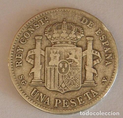 Monedas de España: ALFONSO XIII 1 PESETA 1899 - Foto 2 - 181760160