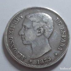 Monedas de España: 5 PESETAS PLATA 1875 BUEN EJEMPLAR. Lote 181883498
