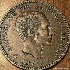 Monedas de España: ESPAÑA ALFONSO XII 5 CÉNTIMOS, 1877 OM CECA BARCELONA BRONCE 3026. Lote 182172758
