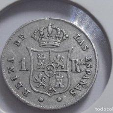 Monedas de España: 1 REAL PLATA 1857. Lote 182278240