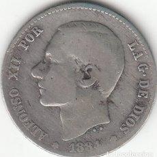 Monedas de España: ALFONSO XII: 1 PESETA 1884 MSM - PLATA / RARA - RARA. Lote 182412413