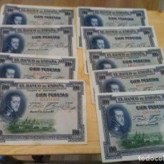 Monedas de España: 9 BILLETES CIEN PESETAS USADOS - FELIPE II. Lote 182492870