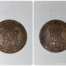 Monedas de España: MONEDA PRINCIPADO DE CATALUÑA. 6 CUARTOS. ISABEL II. AÑO 1838. . Lote 182570520