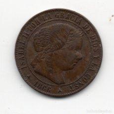 Monedas de España: MEDIO CENTIMO DE ESCUDO 1866 SEGOVIA OM. Lote 182648170