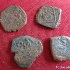 Monedas de España: LOTE 4 RESELLOS DEL SIGLO XVI Y XVII. A IDENTIFICAR.. Lote 182752425