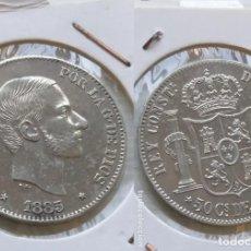 Monedas de España: 50 CENTAVOS DE PESO FILIPINAS ALFONSO XII 1885 PRECIOSA. Lote 182768797