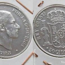 Monedas de España: 50 CENTAVOS DE PESO FILIPINAS ALFONSO XII 1885 PRECIOSA. Lote 182772592