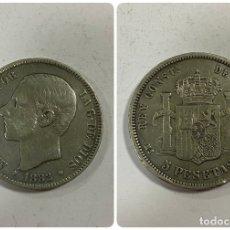 Monedas de España: ESPAÑA. ALFONSO XII. 5 PESETAS. AÑO 1882. ESTRELLAS * 18-XX *.M.S.M.. Lote 254292960