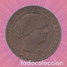 Monedas de España: 1 CENTIMO ISABEL II 1868 MONEDA. Lote 182878355