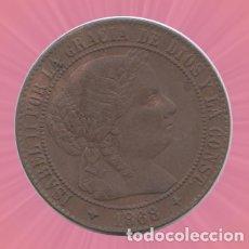 Monedas de España: 2,5 CENTIMOS ISABEL II 1868 MONEDA. Lote 182879378
