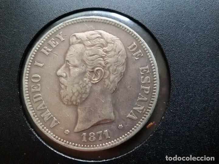 AMADEO DE SABOYA DURO DE PLATA 1871 (Numismática - España Modernas y Contemporáneas - De Isabel II (1.834) a Alfonso XIII (1.931))