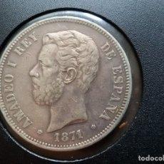 Monedas de España: AMADEO DE SABOYA DURO DE PLATA 1871. Lote 182902758