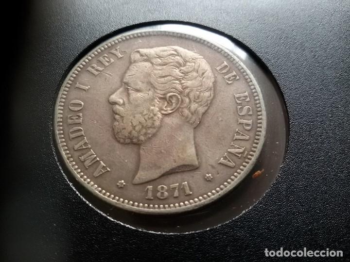 Monedas de España: AMADEO DE SABOYA DURO DE PLATA 1871 - Foto 4 - 182902758