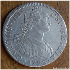 Monedas de España: ESPAÑA. CARLOS IV. 1792. 8 REALES, MÉXICO. FM. MBC . (CALICÓ, 685; CAYÓN, 13857). Lote 182975056