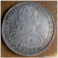 Monedas de España: ESPAÑA. CARLOS IV. 1804. 8 REALES. MÉXICO. TH.. Lote 182975561