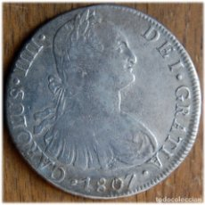 Monedas de España: ESPAÑA. CARLOS IV. 1807. LIMA. JP. CALICÓ, 664; CAYÓN, 14609.. Lote 182975813