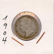 Monedas de España: 1 PESETA DE PLATA DE ALFONSO XIII AÑO 1904. Lote 38575098