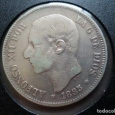 Monedas de España: MONEDA ALFONSO XII DURO PLATA DE 1885. Lote 183016387