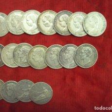 Monedas de España: LOTE 18 MONEDAS PLATA 5 PESETAS ALFONSO XII XIII PROVISIONAL ETC.... Lote 183060050