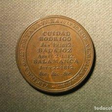Monedas de España: TOKEN WELLINGTON CIUDAD RODRIGO - BADAJOZ SALAMANCA BUEN EJEMPLAR. Lote 183166740