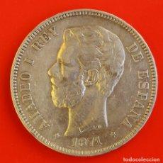 Moedas de Espanha: 5 PESETAS 1871 DEM ESTRELLAS (-8)(74) MBC. Lote 183198153
