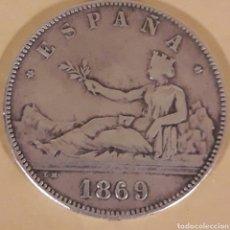 Monedas de España: MONEDA ESPAÑA 5 PESETAS DE PLATA 1869. Lote 183335446