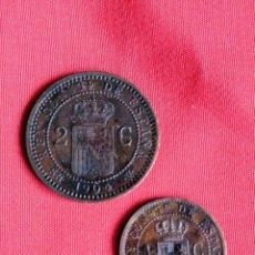 Monedas de España: ALFONSO XIII 2 CTS 1904 *4 S.M V (SC) Y 1 CTS 1906*6 S.L V (SC). Lote 183335647