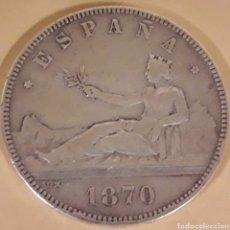 Monedas de España: MONEDA ESPAÑA DE PLATA 5 PESETAS DE 1870. Lote 183336008