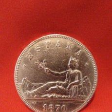 Monedas de España: 5 PESETAS 1870, ESTRELLAS VISIBLES *18*70. MUY BUENA. Lote 183336057