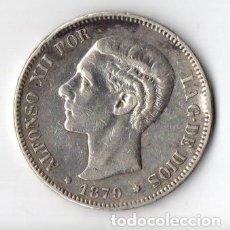 Monedas de España: DURO DE PLATA DE ALFONSO XII 1.879 E.M.M. 18++ MUY BIEN CONSERVADO. Lote 183337536