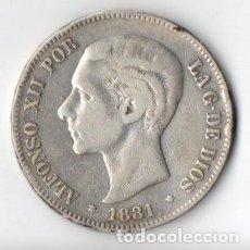 Monedas de España: DURO DE PLATA DE ALFONSO XII 1.881 M.S.M. 18++ MUY BIEN CONSERVADO. Lote 183337666