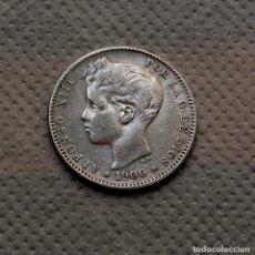 Monedas de España: ALFONSO XIII, 1 PESETA DE 1900 (*1 *0) - SMV - PLATA. Lote 183356357