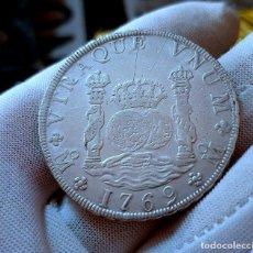 Monedas de España: COLUMNARIO! 8 REALES 1769 MEXICO M F CARLOS III .PESO 26,91G.. EBC+ ESPECTACULAR. Lote 183366133