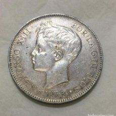 Monedas de España: ALFONSO XIII - 5 PESETAS -1898 *18-(—) S.G.V. - PLATA - EBC+. Lote 183368893