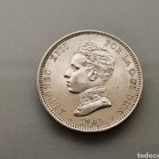 Monedas de España: EXCELENTES 2 PESETAS PLATA 1905 *19 05 ALFONSO XIII EBC. Lote 183398126