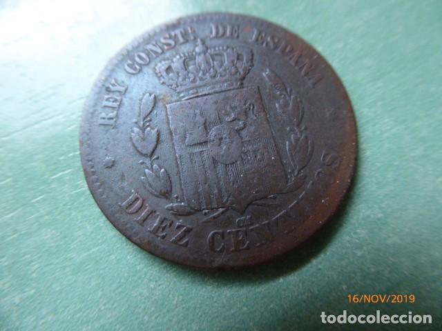 Monedas de España: españacobre año1877 10 cts, - Foto 2 - 183459095