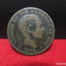 Monedas de España: 5 CENTIMOS 1878 ALFONSO XII. Lote 183597028