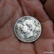 Monedas de España: ALFONSO XII 1 PESETA 1883*(83)FLOJAS PLATA. Lote 183628957