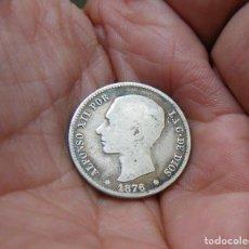 Monedas de España: ALFONSO XII 1 PESETA 1876 PLATA. Lote 183629067